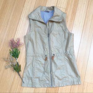 COLUMBIA wax coated zippered vest, S.
